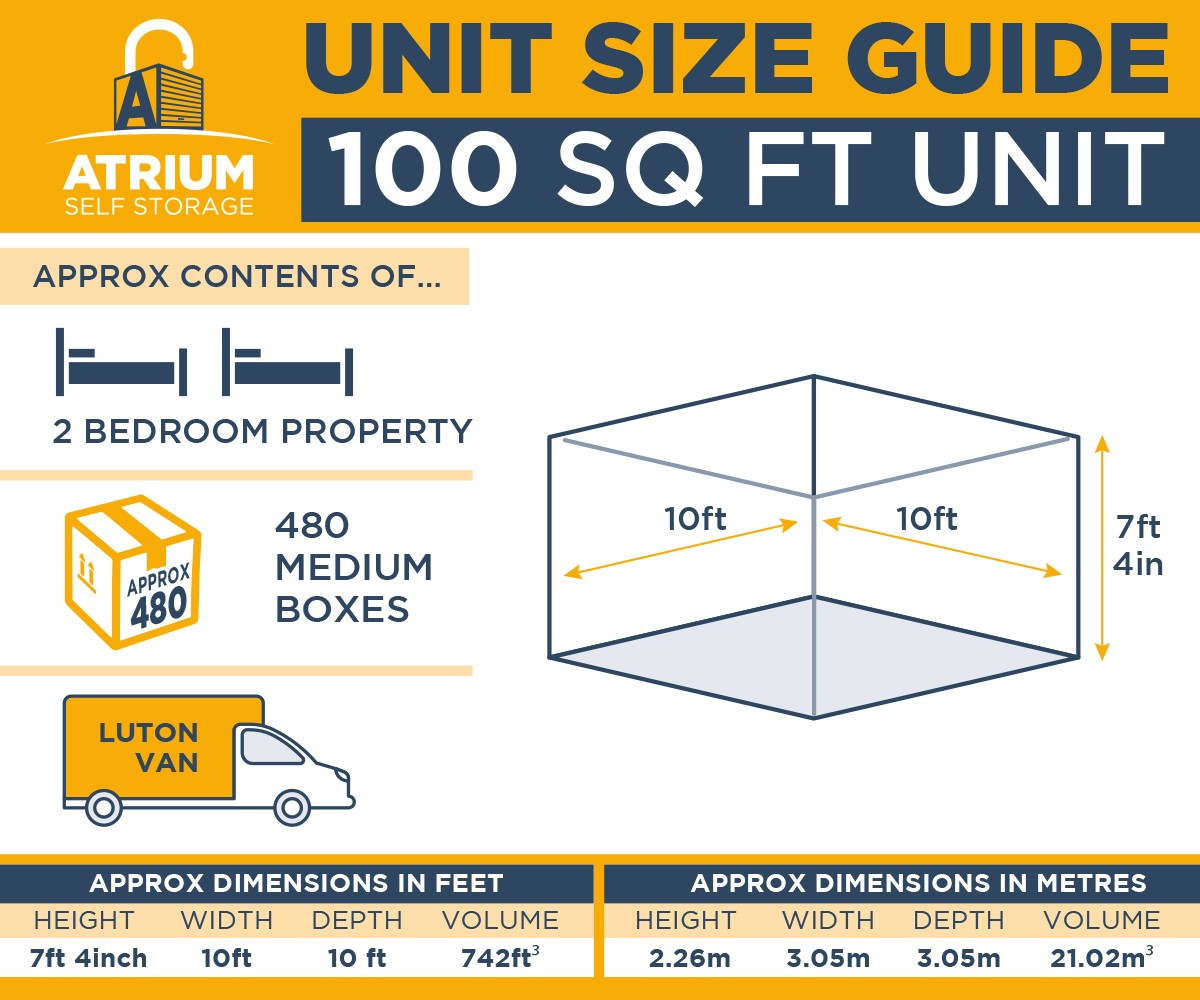 Self Storage Rotherham 100ft Unit Size Guide