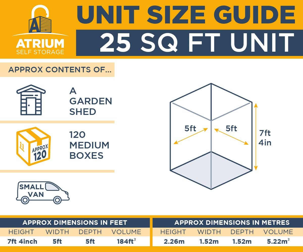 25ft unit size guide