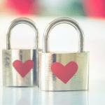 Atrium Storage Love Heart Padlocks Valentines